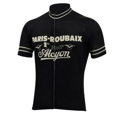 "Retro Trikot ""Paris-Roubaix, schwarz"