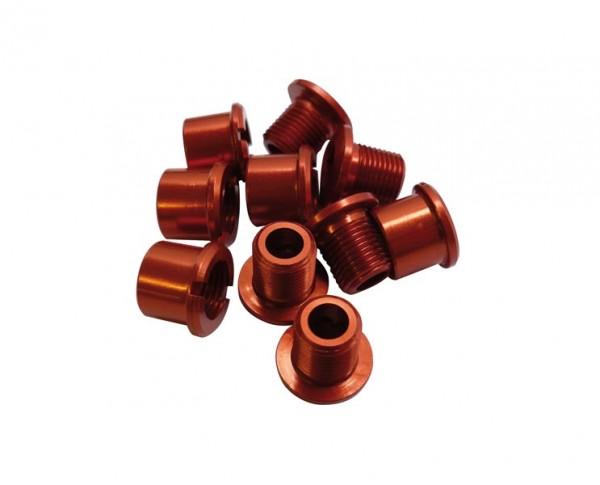 Kettenblattschrauben Alu rot für 2-fach Kurbelsatz