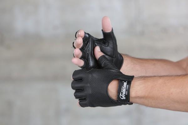 Cicli-Franconi Leder schwarz, perforiert