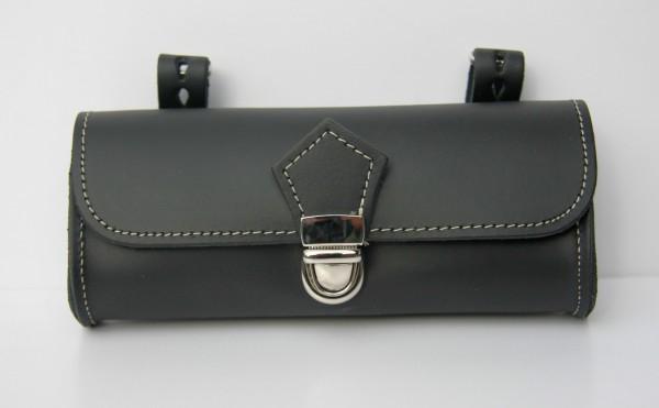 Selle Montegrappa Satteltasche aus echtem Leder, schwarz