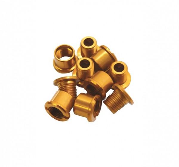 Kettenblattschrauben Alu gold für 2-fach Kurbelsatz
