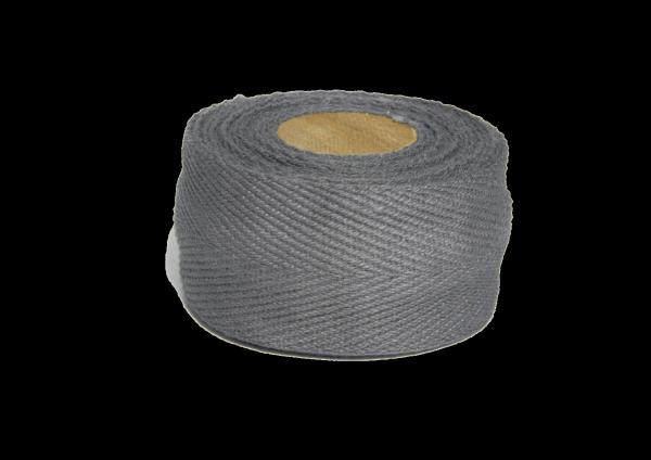 Bio Lenkerband aus Baumwolle, Heavyweight, grau