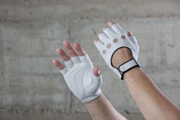 Cicli-Franconi classic pro halbfinger Handschuhe, weiß