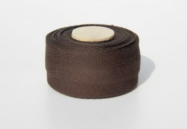 Bio Lenkerband aus Baumwolle, dunkelbraun