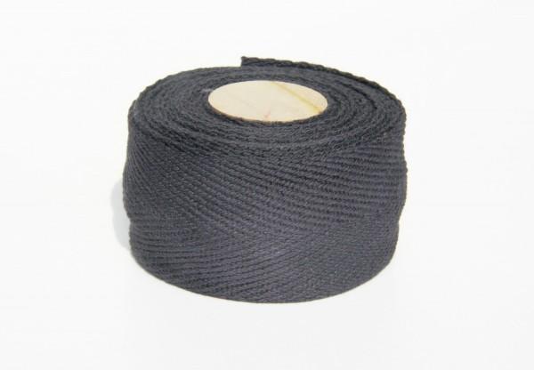 Bio Lenkerband aus Baumwolle, Heavyweight, schwarz