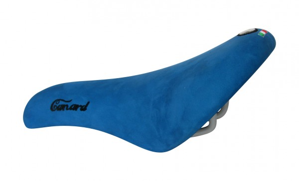 Selle Montegrappa Sattel Canard, Lederdecke blau