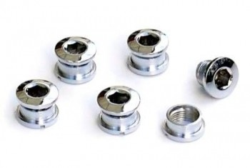 Singlespeed Kettenblattschrauben, Stahl, für 1-fach Kurbelsatz